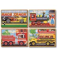 Melissa & Doug Melissa & Doug Vehicles Wooden Jigsaw Puzzles 4 - 12pcs in a Box