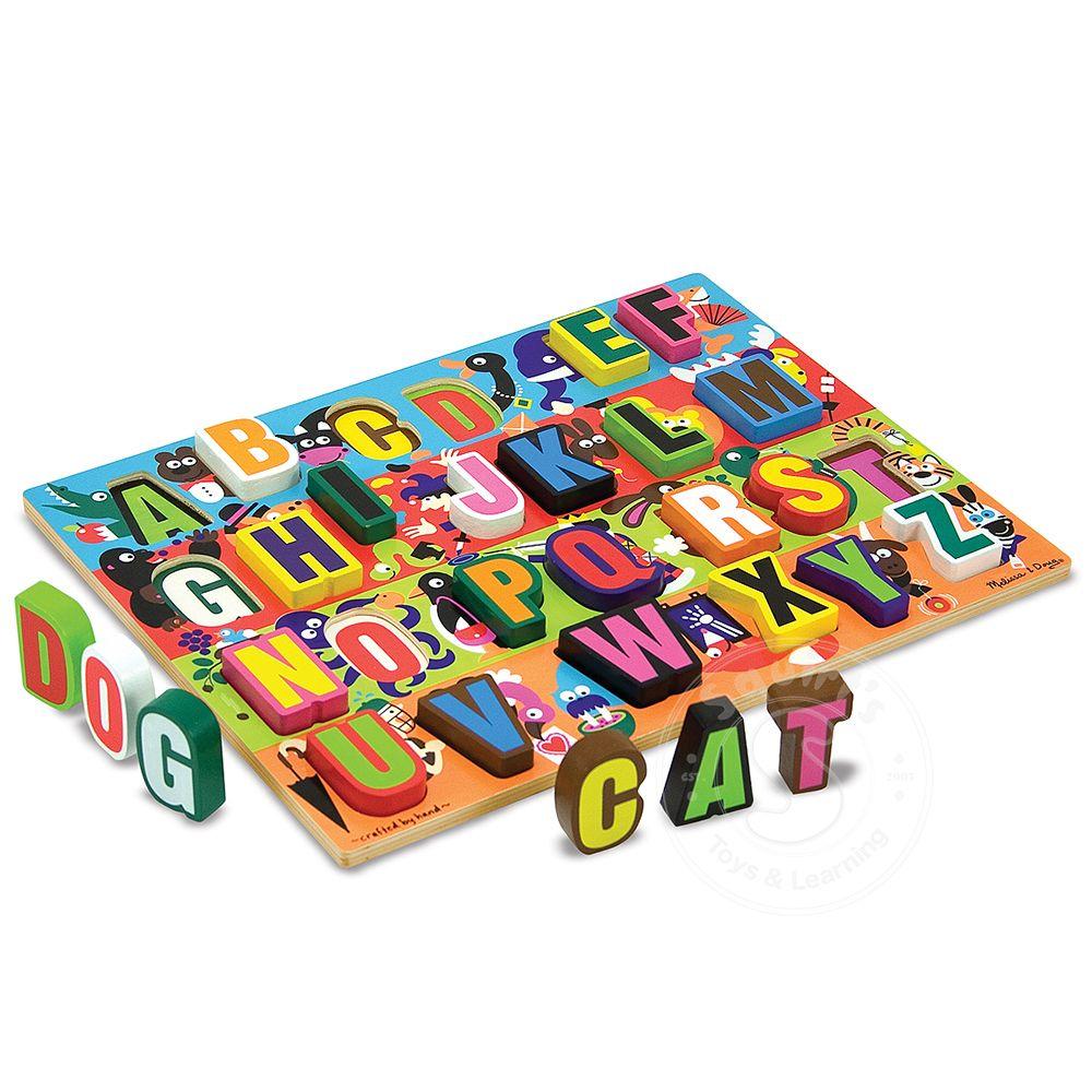 Melissa Doug Jumbo Abc Chunky Puzzle Squirts Toys Learning Co Knob