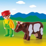 Playmobil Playmobil 123 Farmer with Cow