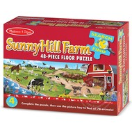 Melissa & Doug Melissa & Doug Sunny Hill Farm Search & Find Floor Puzzle 48pcs_