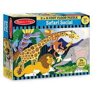 Melissa & Doug Melissa & Doug Safari Social Floor Puzzle 24pcs