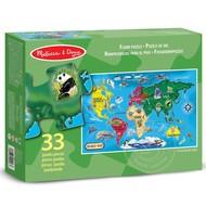 Melissa & Doug Melissa & Doug World Map Floor Puzzle 33pcs