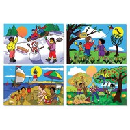 Melissa & Doug Melissa & Doug Four Seasons Floor Puzzle 4 x 12pcs _