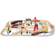 Melissa & Doug Melissa & Doug Wooden Railway Train Set