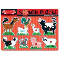 Melissa & Doug Melissa & Doug Farm Animals Sound Peg Puzzle
