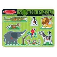 Melissa & Doug Melissa & Doug Zoo Animals Sound Peg Puzzle