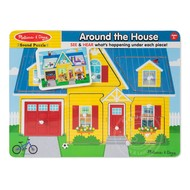 Melissa & Doug Melissa & Doug Around the House Sound Peg Puzzle