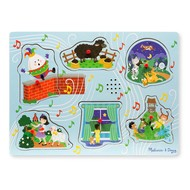 Melissa & Doug Melissa & Doug Sing-Along Nursery Rhymes 2 Sound Peg Puzzle