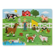 Melissa & Doug Melissa & Doug Old MacDonald's Farm Sound Peg Puzzle
