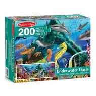 Melissa & Doug Melissa & Doug Underwater Oasis Floor Puzzle 200pcs