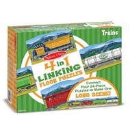 Melissa & Doug Melissa & Doug Trains Linking Floor Puzzle 4 x 24pcs
