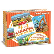 Melissa & Doug Melissa & Doug Construction Linking Floor Puzzle 4 x 24pcs