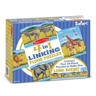 Melissa & Doug Melissa & Doug Safari Linking Floor Puzzle 4 x 24pcs