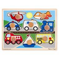 Melissa & Doug Melissa & Doug Vehicles Jumbo Knob Puzzles