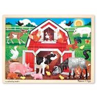 Melissa & Doug Melissa & Doug Barnyard Wooden Tray Puzzle 24pcs