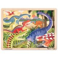 Melissa & Doug Melissa & Doug Dinosaur Wooden Tray Puzzle 24pcs