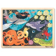 Melissa & Doug Melissa & Doug Under the Sea Wooden Tray Puzzle 24pcs_