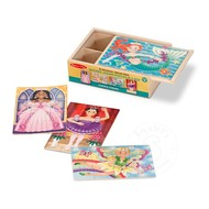 Melissa & Doug Melissa & Doug Fanciful Friends Wooden Jigsaw Puzzles 4 - 12pcs in a Box_