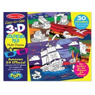 Melissa & Doug Melissa & Doug Easy to See 3D Coloring Pad - Blue_