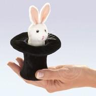 Folkmanis Folkmanis Rabbit in Hat Finger Puppet