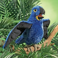 Folkmanis Folkmanis Blue Macaw Parrot Puppet