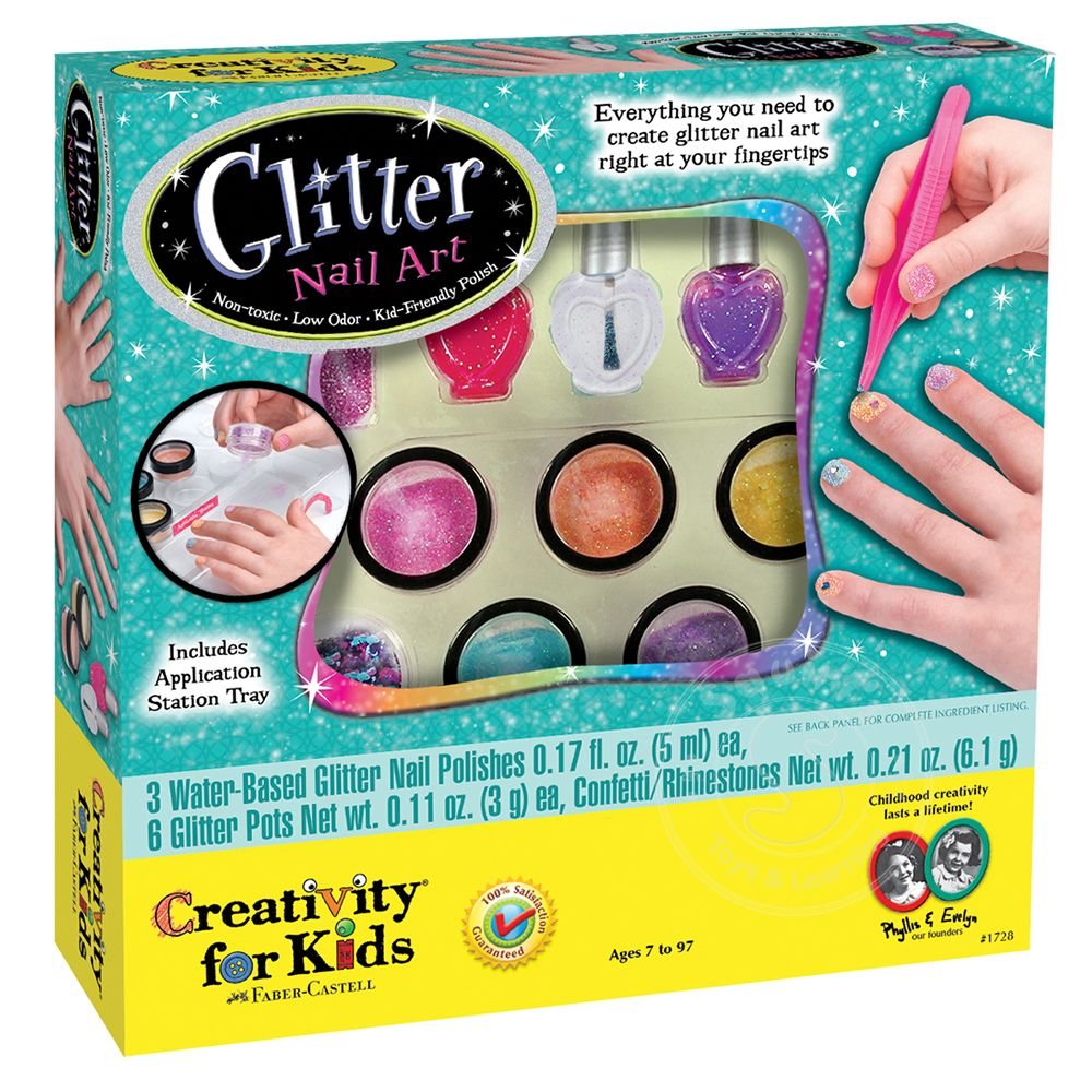 Creativity for Kids Glitter Nail Art - Squirt\'s Toys & Learning Co