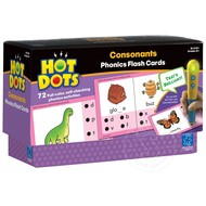 Educational Insights Hot Dots Phonics Flash Cards Set 2 Consonants