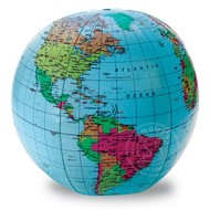 "Learning Resources 12"" Inflatable World Globe"