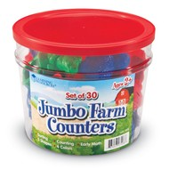 Learning Resources Jumbo Farm Animals Counters Set of 30