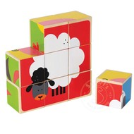 Hape Hape Farm Animals Block Cube Puzzle