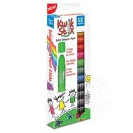 The Pencil Grip Kwik Stix Tempra Paint 12 Pack Primary