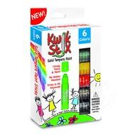 The Pencil Grip Kwik Stix Tempra Paint 6 Pack Primary