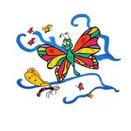 Artburn Pillow Case Painting Kit - Butterfly Sky