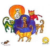 Artburn Pillow Case Painting Kit - Cats