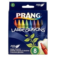 Prang Prang Crayons 8 Colour Box - Large Round