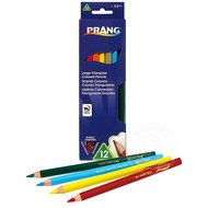 Prang Prang Large Triangular Coloured Pencils 12 Colour Set