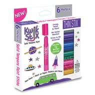 Kwik Stix Thin Stix Tempra Paint 6 Pack Metalix