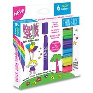 Kwik Stix Thin Stix Tempra Paint 6 Pack Neon