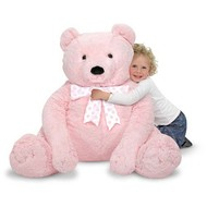 Melissa & Doug Melissa & Doug Jumbo Teddy Bear Plush Pink