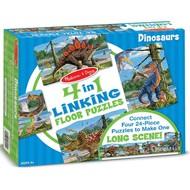Melissa & Doug Melissa & Doug Dinosaurs Linking Floor Puzzle 4 x 24pcs