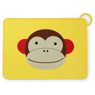 SkipHop SkipHop Zoo Fold & Go Silicone Placemat - Monkey