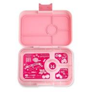 Yumbox YumBox Tapas 4 Compartment - Amalfi Pink w/ Botanical Tray