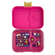 Yumbox YumBox Panino 4 Compartment - Kawaii Pink w/ Emoji Tray
