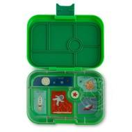 Yumbox YumBox Original 6 Compartment - Terra Green w/ Rocket Tray_