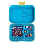 Yumbox YumBox Panino 4 Compartment - Kai Blue w/ Emoji Tray
