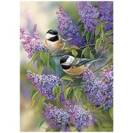 Cobble Hill Puzzles Cobble Hill Chickadee Duo Tray Puzzle 35pcs