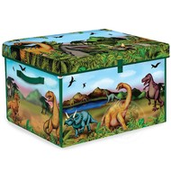 Neat-Oh! Neat-Oh! ZipBin Dinosaur Transforming Toy Box with 2 Dinosaurs