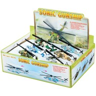 Toysmith Pull Back Sonic Gunship Helicopter