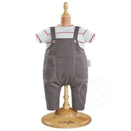 "Corolle Corolle Mon Premier Bebe Smock Denim & Overall 12"" Doll Outfit"