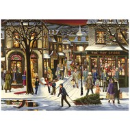 Cobble Hill Puzzles Cobble Hill Downtown Christmas Tray Puzzle 35pcs